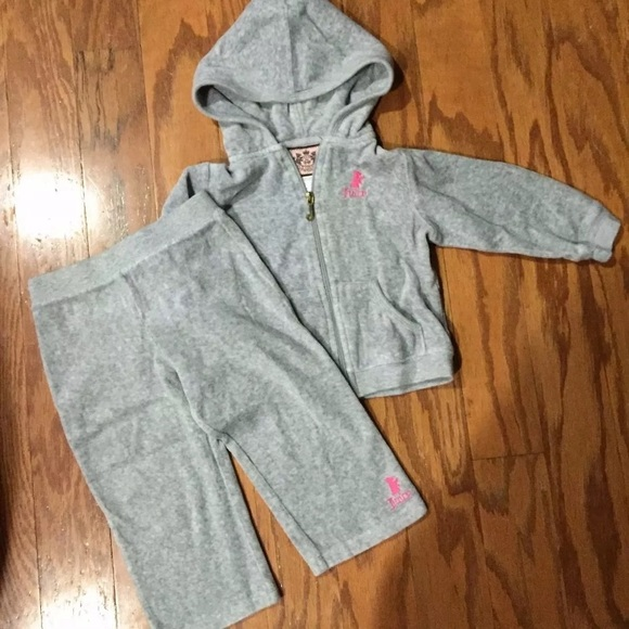 03d442d2b094 Juicy Couture Other - Juicy Couture Jogging Track Suit Baby Girls 18m